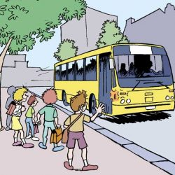 Illustration sécurité routière enfant