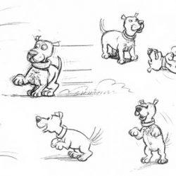 Étude de chien humoristique