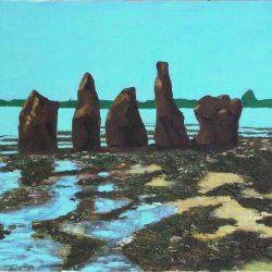Peinture paysage menhir