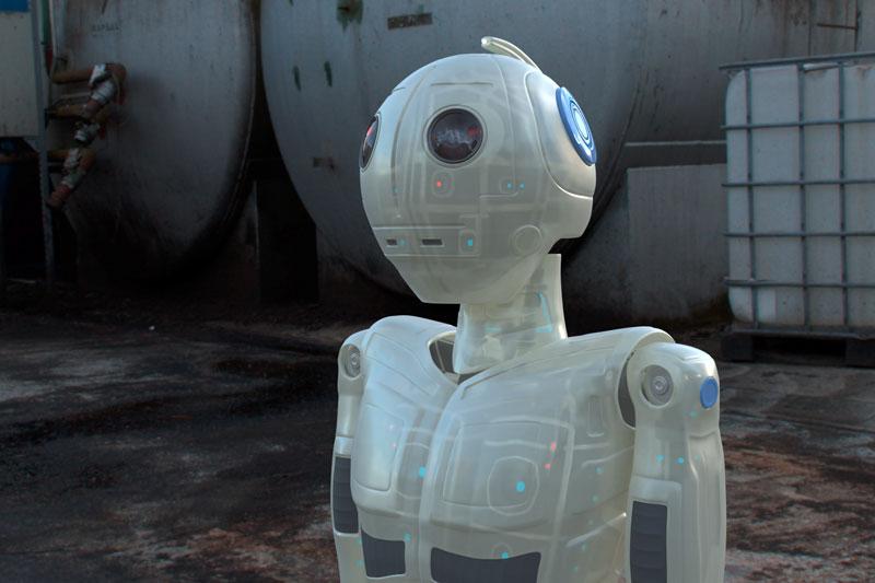 Buste de robot 3D