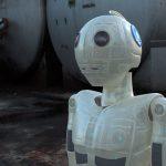 Tête de robot 3D