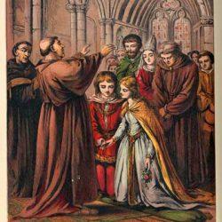 Inspiration mariage médiéval. Par Laura Valentine [Public domain], via Wikimedia Commons