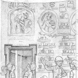 Fresque du château de Trazegnies